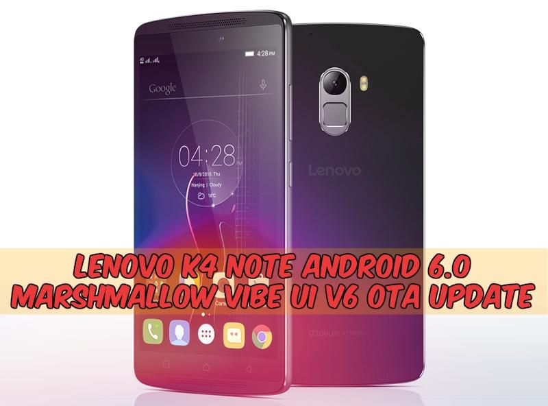 VIBE UI v6 Lenovo K4 Note Android 6.0