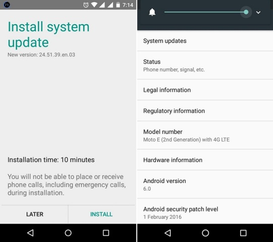 Moto E 2015 Marshmallow 1 - Android 6.0 Marshmallow OTA Update For Moto E 2nd Gen