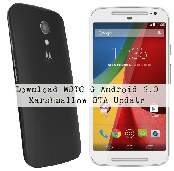 Moto G - How To Update MOTO G Android 6.0 Marshmallow OTA