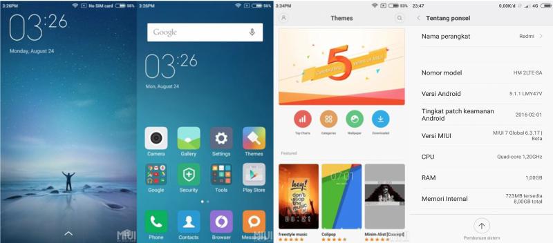 REDMI 2 PRIME-MIUI 7-Android 5.1.1