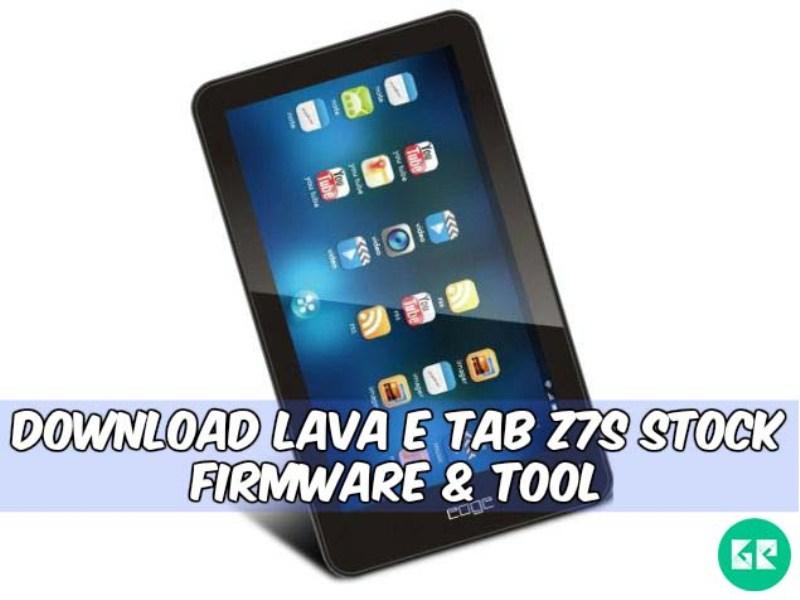 Lava E Tab Z7S-Firmware-tool-gizrom