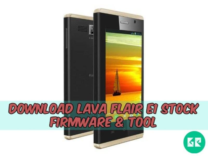 Lava Flair E1-Firmware-Tool-firmware