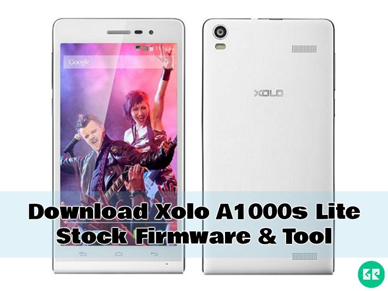 Xolo A1000s Lite Firmware Tool gizrom - [FIRMWARE] Xolo A1000s Lite Stock Firmware & Tool