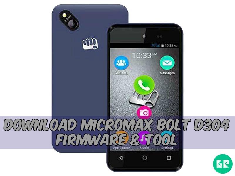 Micromax Bolt D304 Firmware Tool gizrom - [FIRMWARE] Micromax Bolt D304 Firmware & Tool