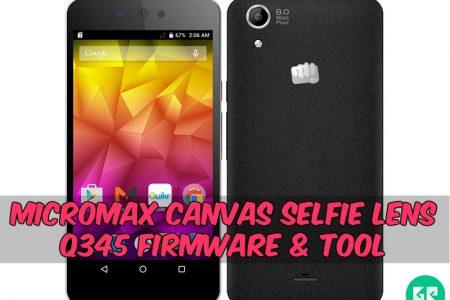FIRMWARE] Micromax Canvas Selfie Lens Q345 Firmware & Tool