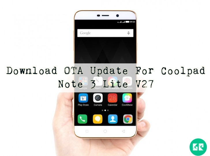 Download OTA Update For Coolpad Note 3 Lite V27