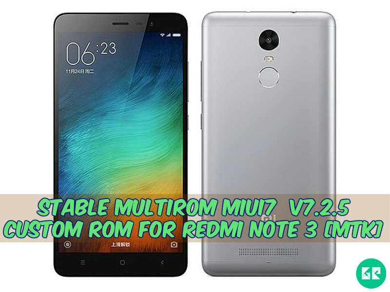 Redmi Note 3 mtk Multirom Miui7 Rom - Stable Multirom Miui7  v7.2.5 Custom Rom For Redmi Note 3 [Mtk]