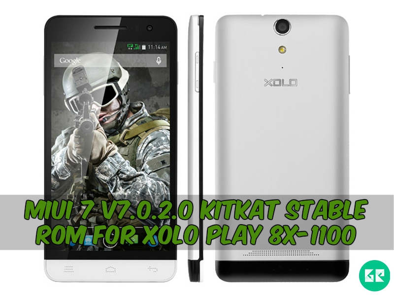 Xolo play 8x 1100 MIUI 7 gizrom - MIUI 7 v7.0.2.0 Kitkat Stable Rom For Xolo play 8x-1100