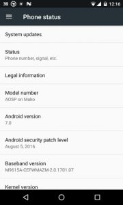 Nougat AOSP ROM For Nexus 4 2 180x300 - Install Android 7.0 Nougat AOSP ROM For Nexus 4