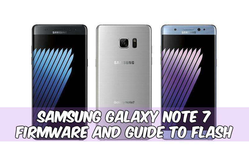 Samsung Galaxy Note 7 Firmware