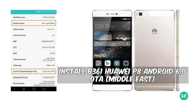 Install B380 Huawei P8 Android 6.0 OTA
