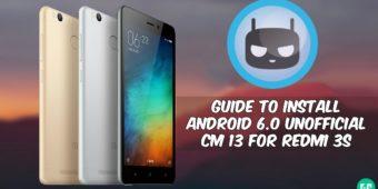 CM 13 For Redmi 3s