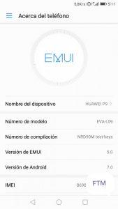 B322 Emui 5.0 Huawei P9 Android 7.0 Nougat OTA 1 169x300 - Install Android 7.0 Emui 5.0 on Huawei P9 EVA-L19 [Rusia]