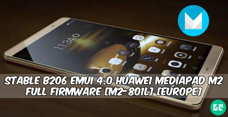 EMUI 4.0 Huawei MediaPad M2 Firmware