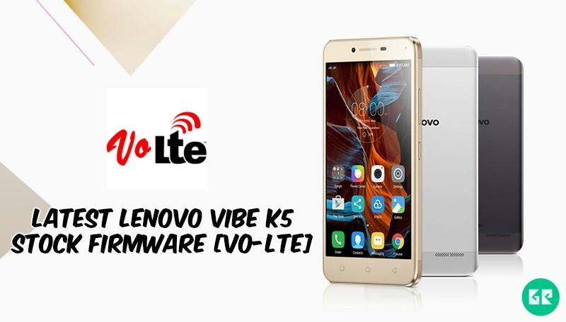Lenovo Vibe K5 Stock Firmware