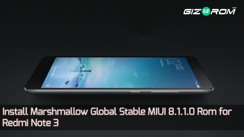 MIUI 8.1.1.0 Rom for Redmi Note 3