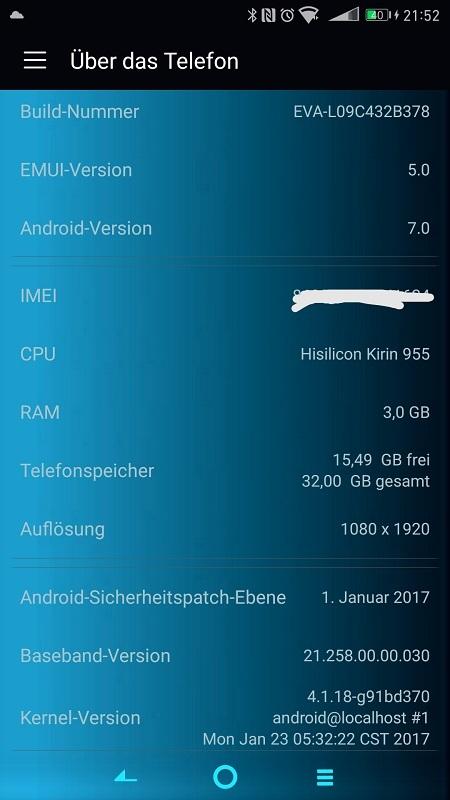 EMUI 5.0 Huawei P9 Stock Firmware - Stable B378 EMUI 5.0 Huawei P9 Android 7.0 Stock Firmware [EVA-L09]