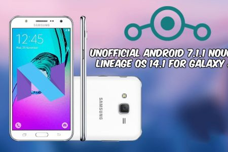 Unofficial Android 7 1 1 Nougat Lineage OS 14 1 For Galaxy J7