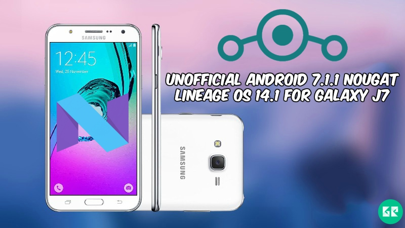 Nougat Lineage OS 14.1 For Galaxy J7