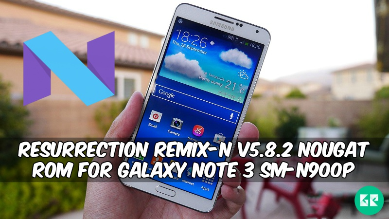 Resurrection Remix-N v5 8 2 Nougat ROM For Galaxy Note 3 SM-N900P