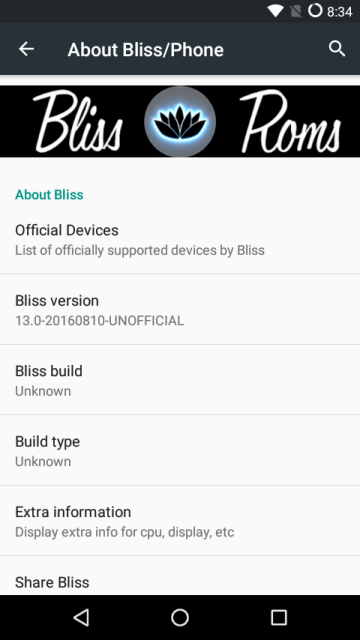 bliss rom 4 - Install Android 6.0.1 BLISS POP ROM For Lenovo Vibe C