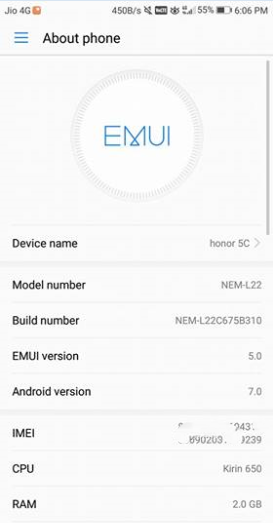 B310 EMUI 5.0 Honor 5C Nougat Firmware volte - Install B310 EMUI 5.0 Honor 5C Nougat Firmware With Vo-LTE [India]