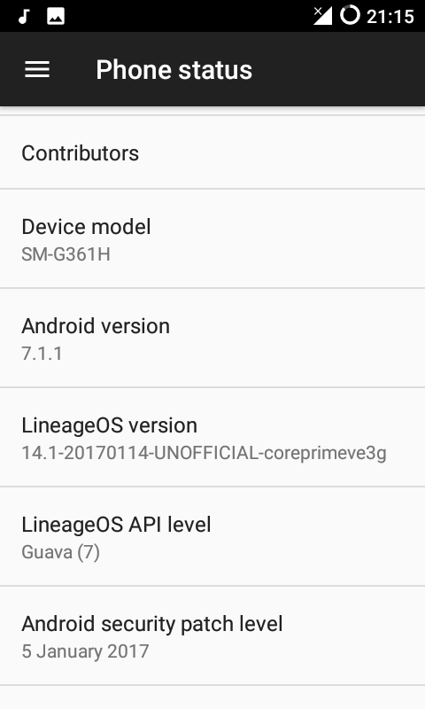 Nougat Lineage OS 14.1 For Galaxy Core Prime VE 1 - Android 7.1.1 Nougat Lineage OS 14.1 For Galaxy Core Prime VE