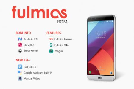 Download Fulmics 3 1 LG G6 Ported Nougat ROM On LG G5