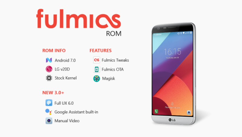 Download Fulmics 3 1 LG G6 Ported Nougat ROM On LG G5