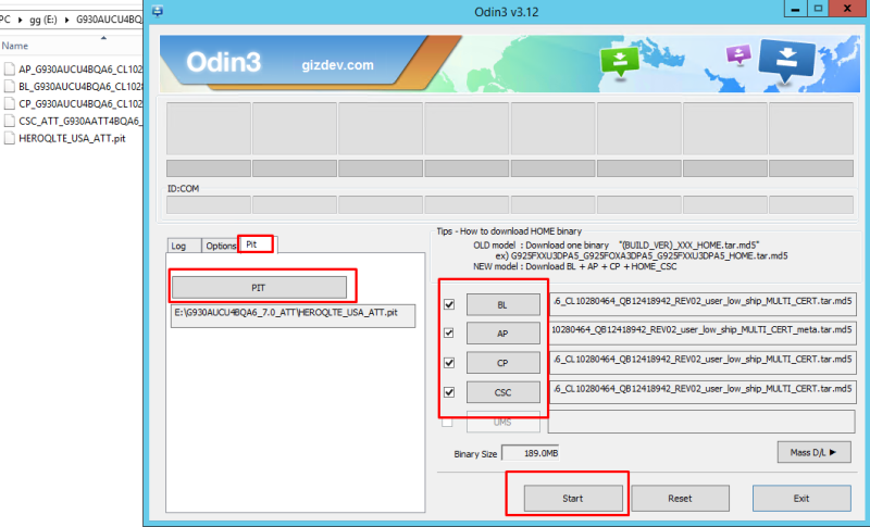 odin flash guide to install firmware