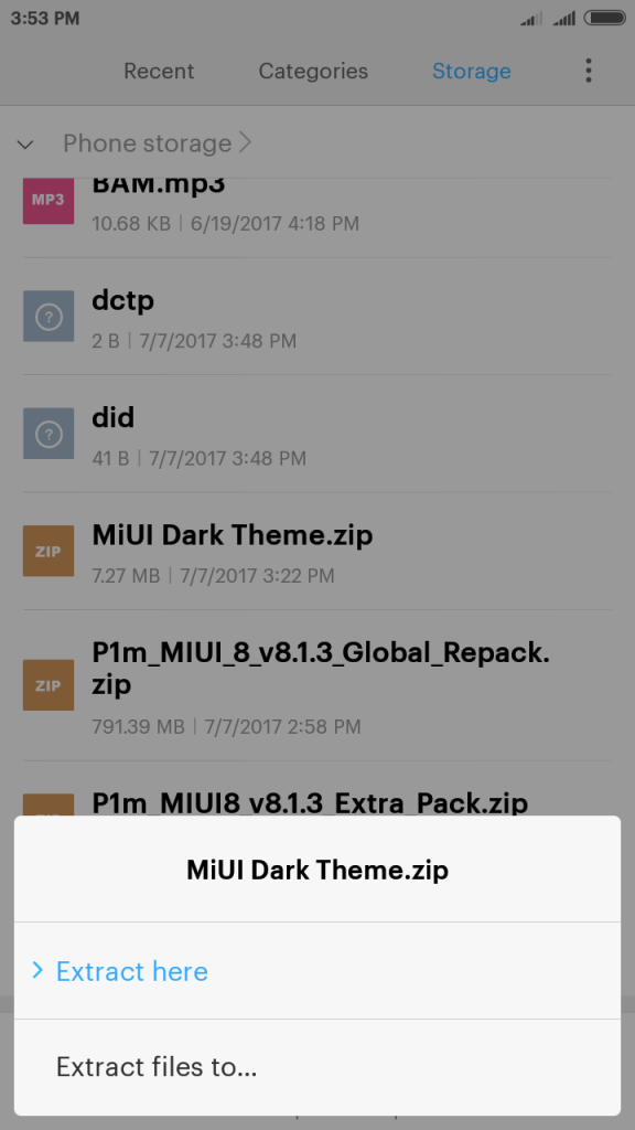 Dark theme 2 576x1024 - Guide To Install Lollipop MIUI 8 ROM For Lenovo P1M