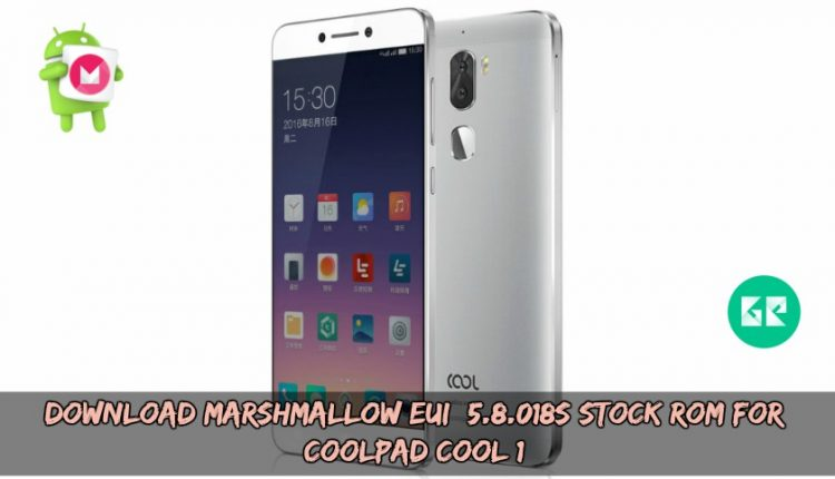 Download Marshmallow EUI 5.8.018S Stock ROM For Coolpad Cool 1