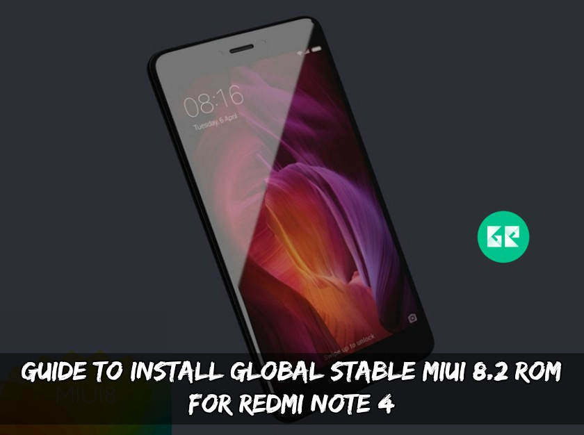 Global Stable MIUI 8.2 ROM For Redmi Note 4
