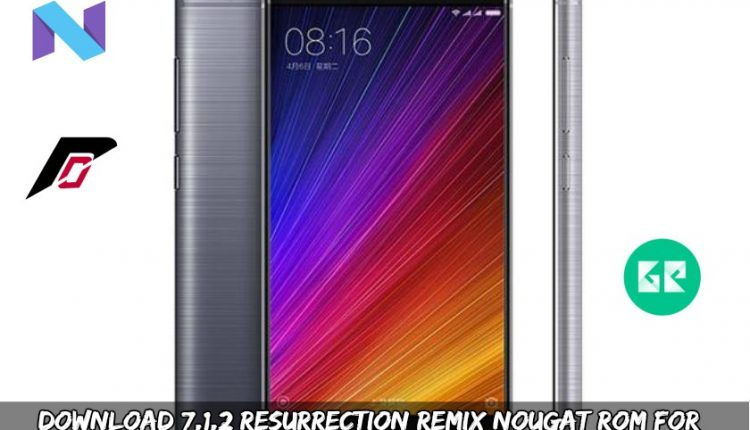 Download 7.1.2 Resurrection Remix Nougat ROM For Xiaomi MI 5S