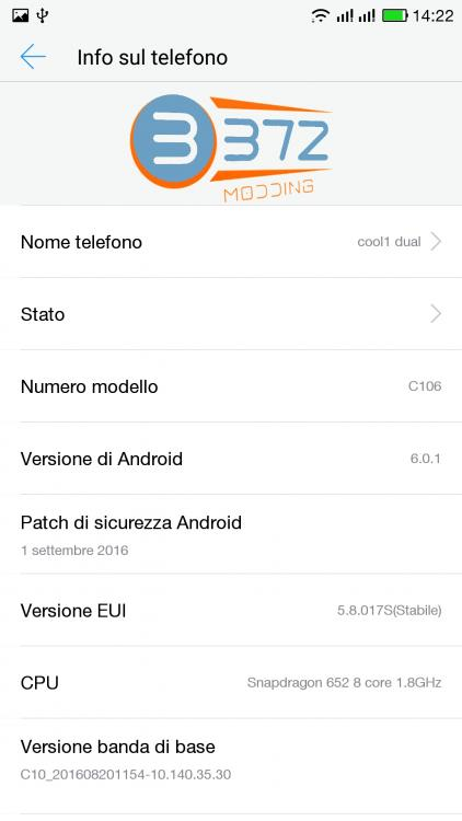 eUI 5.8.017s ROM For Cool 1 2 - Install Marshmallow eUI 5.8.017s ROM For Cool 1 [Multi Language]