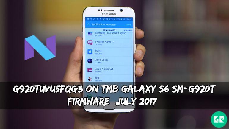 G920TUVU5FQG3 On TMB Galaxy S6 SM G920T Firmware - G920TUVU5FQG3 On TMB Galaxy S6 SM-G920T Firmware (July 2017)