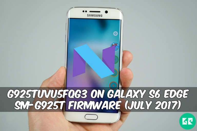G925TUVU5FQG3 On Galaxy S6 Edge SM-G925T Firmware (July 2017)