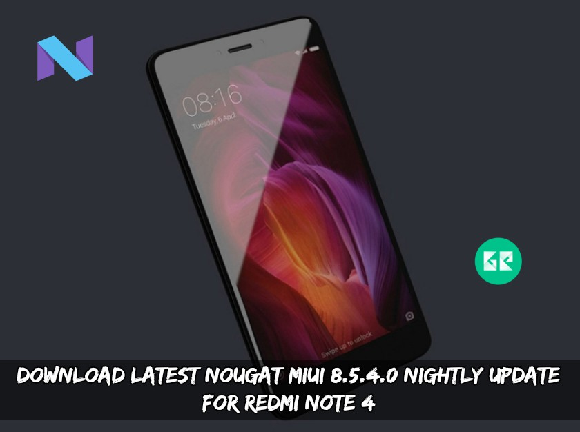 Nougat MIUI 8.5.4.0 Update For Redmi Note 4