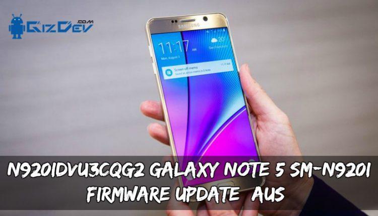 N920IDVU3CQG2 Galaxy Note 5 SM-N920I Firmware Update