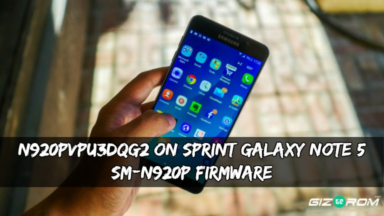 N920PVPU3DQG2 Sprint Galaxy Note 5 SM-N920P Firmware