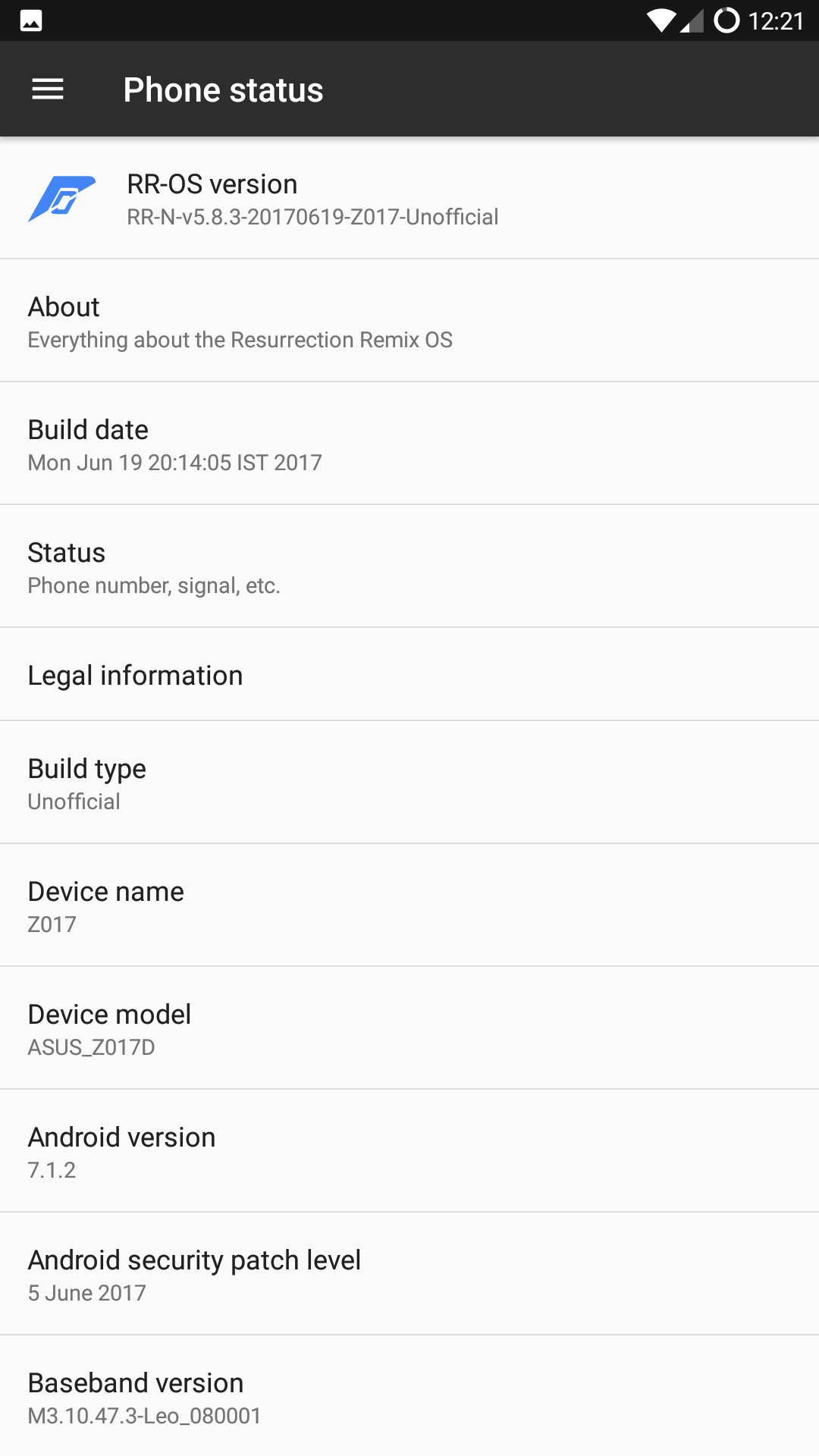 RR 5.8.3 ROM 2 - Install 5.8.3 Resurrection Remix Nougat ROM For Zenfone 3