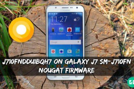 J710FNDDU1BQH7 On Galaxy J7 SM-J710FN Nougat Firmware