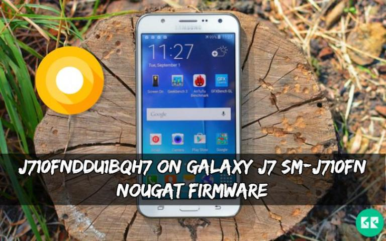 J710FNDDU1BQH7 On Galaxy J7 SM-J710FN Nougat Firmware