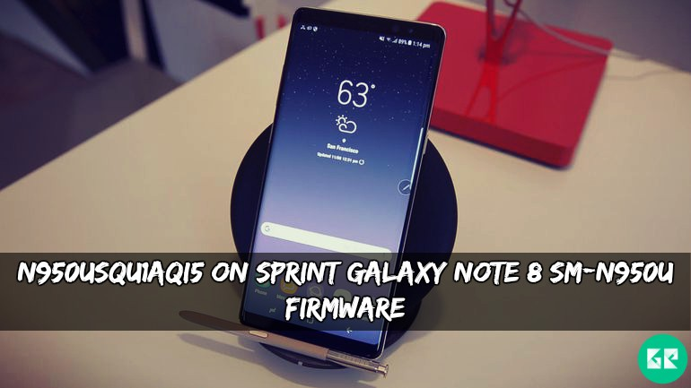 Firmware Sprint Galaxy N950usqu1aqi5 Note On 8 Sm-n950u