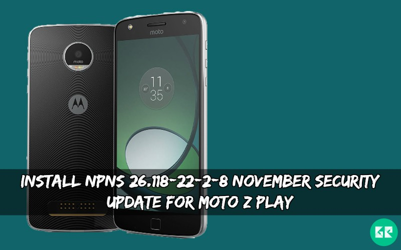 NPNS 26.118-22-2-8 November Security Update For Moto Z Play