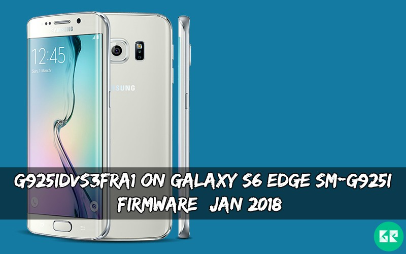 G925IDVS3FRA1 On Galaxy S6 Edge SM-G925I Firmware
