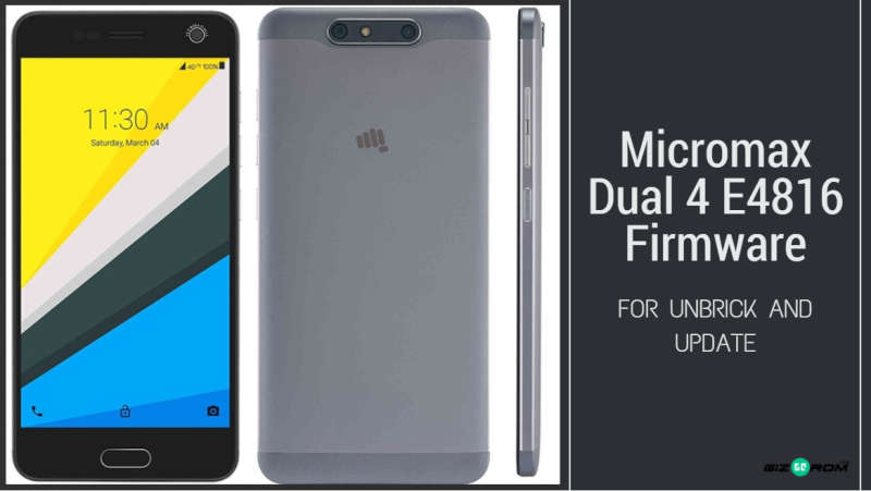 Micromax Dual 4 E4816 Firmware For Unbrick And Update