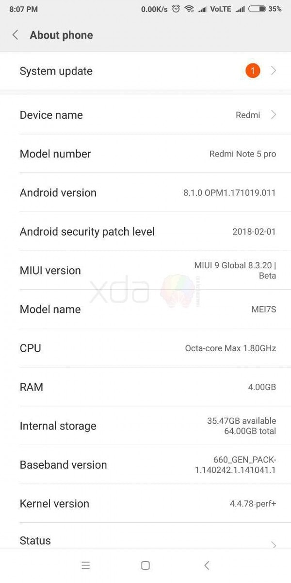 Global Beta MIUI 9 Android 8.1 On Redmi Note 5 Pro 1 - Install Android 8.1 Global Beta MIUI 9 OREO On Redmi Note 5 Pro (Latest)