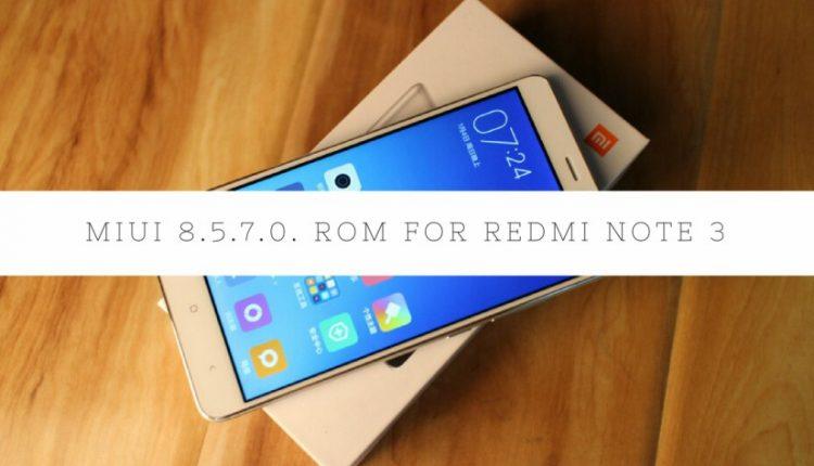 Latest Global BETA MIUI 8.3.8 ROM For Redmi Note 3 Qualcomm