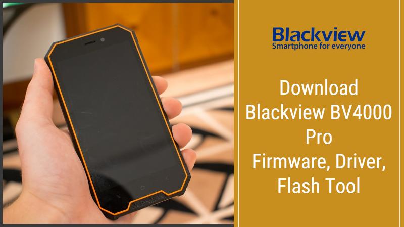Blackview BV4000 Рro Stock Firmware